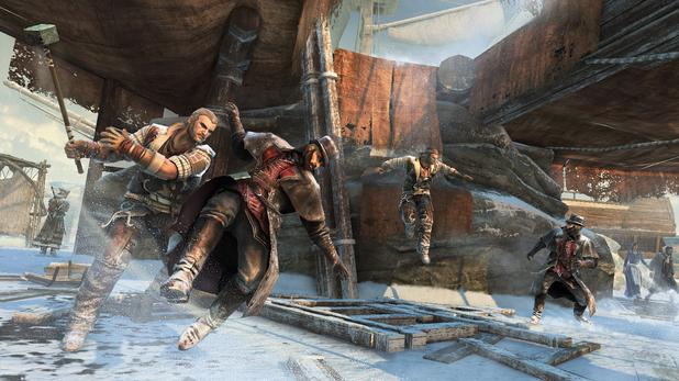 Assassin's Creed 3 naval warfare in battle
