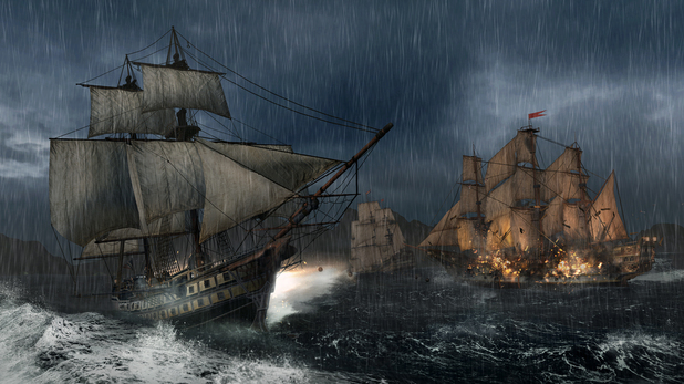 Assassin's Creed 3 naval warfare in sea