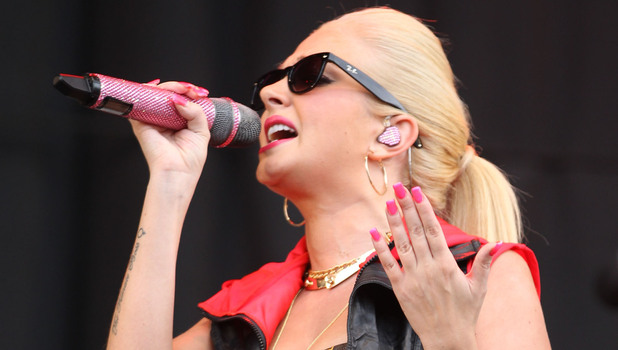 Tulisa Contostavlos V Festival 2012 held at Weston Park - Performances - Day One Staffordshire, England - 18.08.12 Mandatory Credit: WENN.com