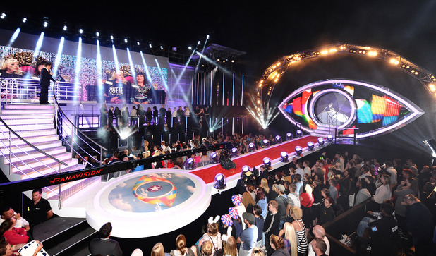 General picture of the Celebrity Big Brother 2012 launch night