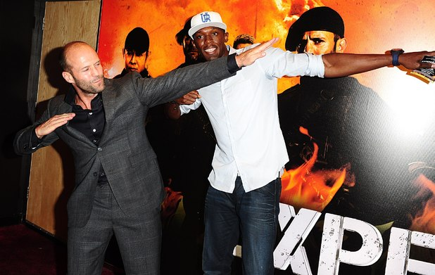 Usain Bolt Jason Statham The Expendables 2