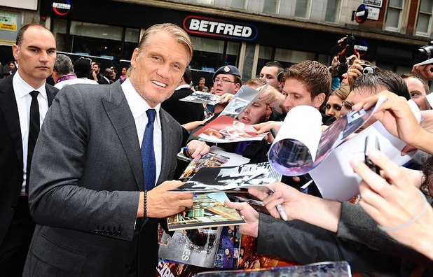 Dolph Lundgren arriving for the UK Premiere of The Expendables 2, at the Empire Cinema, Leicester Square, London.