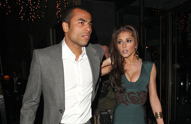 Ashley Cole and Cheryl Cole walking hand in hand, arrive at their hotel London, England - 03.12.08 Credit: (Mandatory): WENN