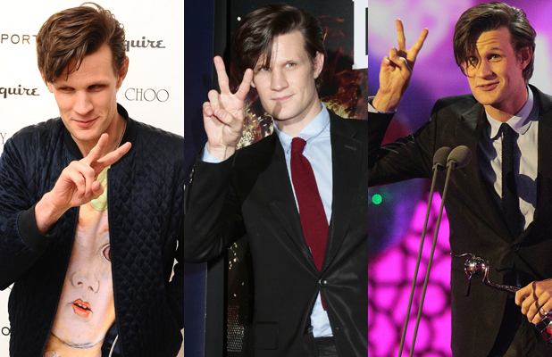 Matt Smith, peace sign, Doctor Who