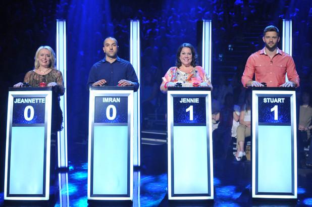 Contestants Jeannette, Imran, Jennie and Stuart