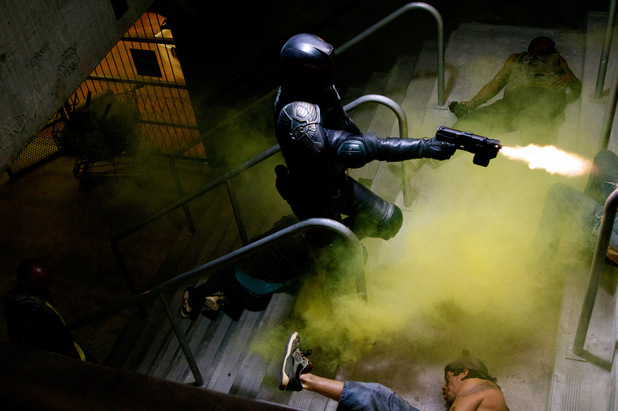 Dredd action scene