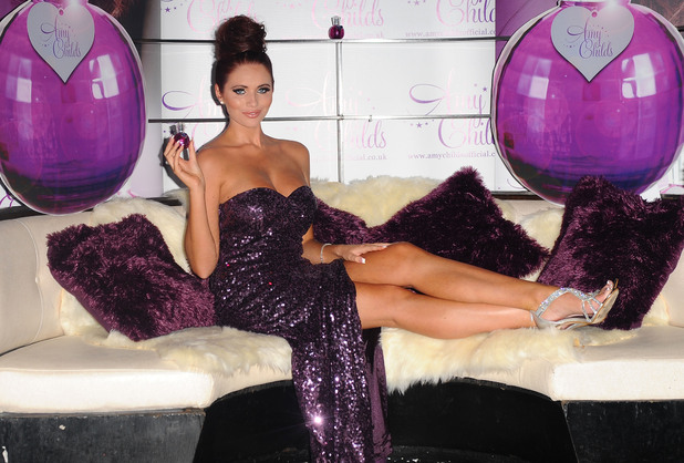 Amy Childs launches her debut fragrance 'Amy Childs' at Aura