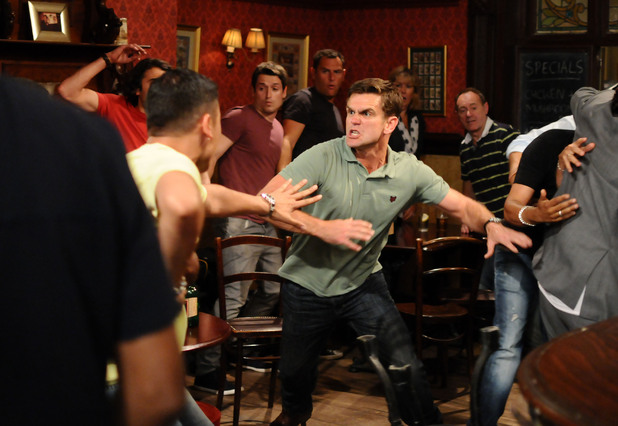 Joey gets embroiled in the fight.
