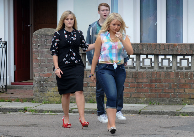 Tanya tries to keep Abi away from Jay.