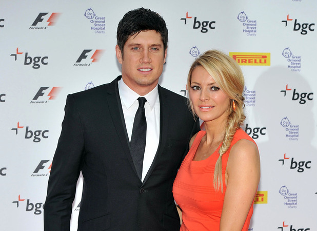 Vernon Kay and Tess Daly The F1 Party marking the official launch of the 2012 Formula 1 British Grand Prix held at Battersea Park - Arrivals. London, England - 04.07.12 Mandatory Credit: Daniel Deme/WENN.com