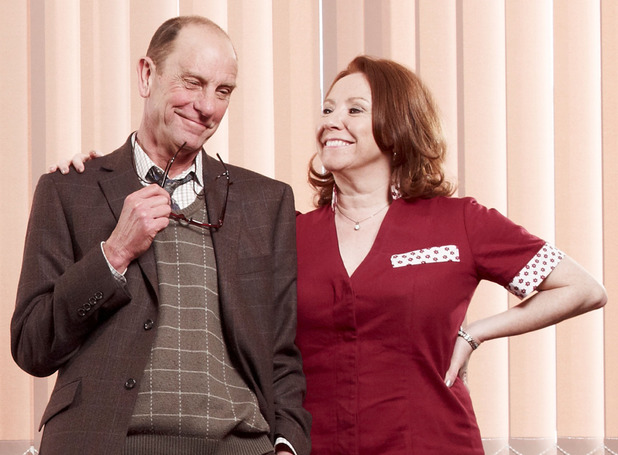 Philip Martin Brown and Melanie Hill as Grantly Budgen and Maggie Croft in Waterloo Road