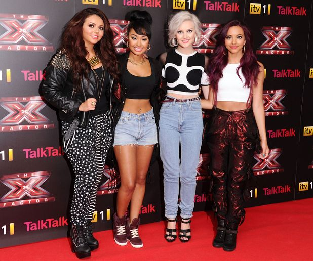 Last year's winners Little Mix arriving at The X Factor press launch held at the Corinthia Hotel.