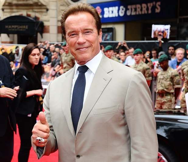 Arnold Schwarzenegger arriving for the UK Premiere of The Expendables 2, at the Empire Cinema, Leicester Square, London.
