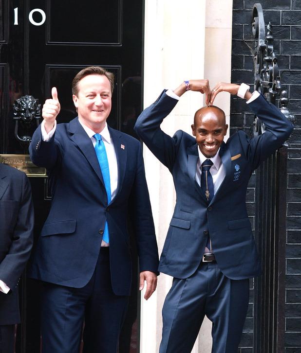 Mo Farah, David Cameron