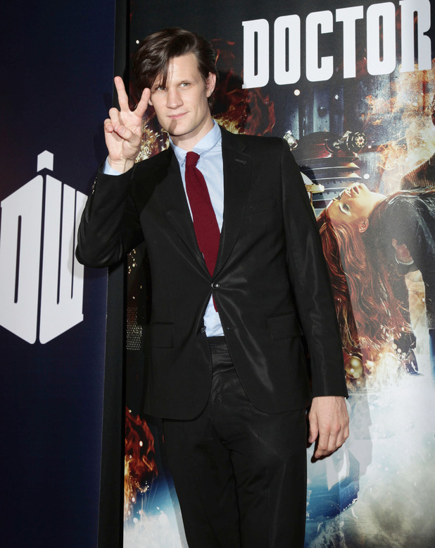 Doctor Who's Matt Smith peace sign gallery
