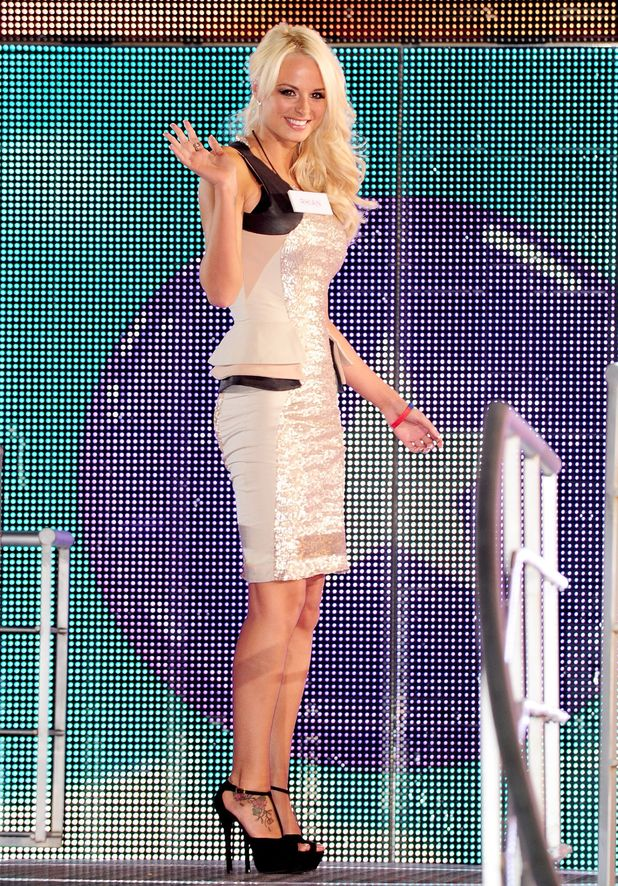 Rhian Sugden enters the Celebrity Big Brother house