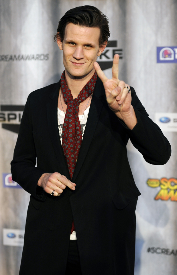 Matt Smith poses at the 2011 Scream Awards, doctor who
