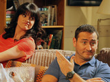 In with the Flynns: Caroline (NIKY WARDLEY), Liam (WILL MELLOR)
