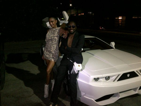 will.i.am and Nicole Scherzinger hours before his car was stolen