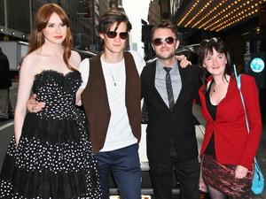 Karen Gillan, Matt Smith, Chris Hardwick and Caroline Skinner arrive for the screening.