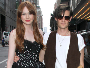 Karen Gillan and Matt Smith are reunited for the BBC America screening.