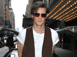 Matt Smith in New York for the BBC America Doctor Who screening.