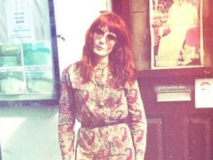 Florence Welch on set of Calvin Harris 'Sweet Nothing' music video.