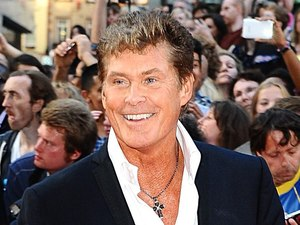 David Hasselhoff arriving for the UK Premiere of Keith Lemon : The Film