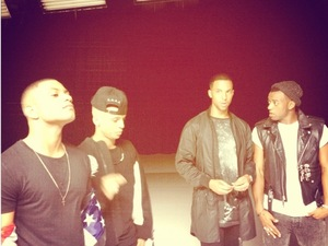 JLS filming new music video.