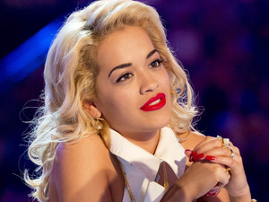 Guest judge Rita Ora looks mesmerized.