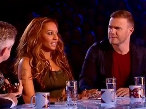 X Factor judges Louis Walsh, Tulisa, Gary Barlow and Mel B