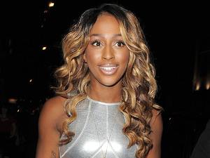 Alexandra Burke enjoys a night out at Novikov restaurant and bar in Mayfair.