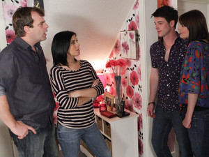 Steve and Michelle are horrified when Ryan emerges from his room with Tracy