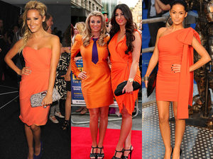 Ashley Tisdale, Cara Kilbey, Billi Mucklow, Funda Ona, orange