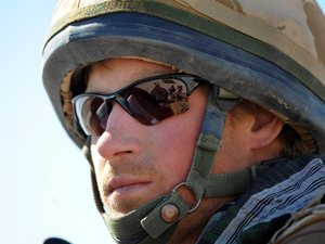 Prince Harry sits in his position in a spartan armoured vehicle in Helmand Province in Southern Afghanistan Afghanistan