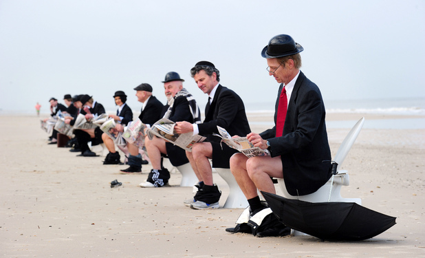 'Coalition of the Constipated' art installation, Henley Beach, Adelaide, Australia
