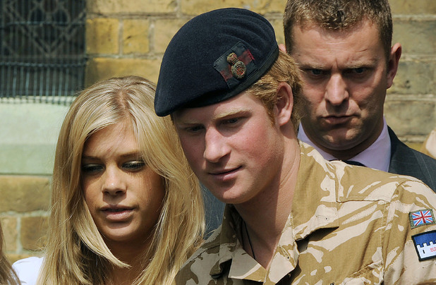Prince Harry and girlfriend Chelsy Davy leave a service of remembrance for those who have died in Afghanistan