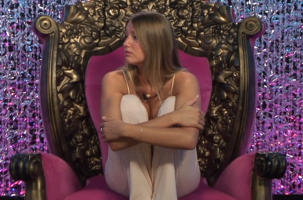 Danica cries in the diary room.