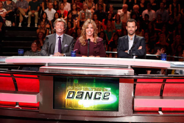 So You Think You Can Dance S09E11: Judges Nigel Lythgoe and Mary Murphy and guest judge Benjamin Millipied