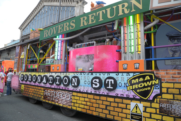The Coronation Street float.