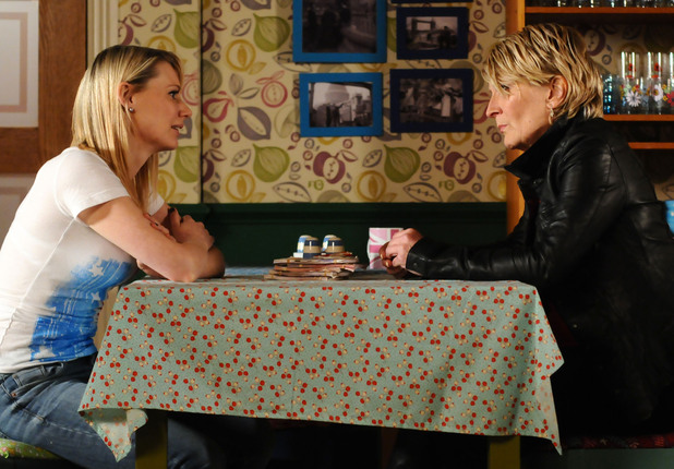 Carly tells Shirley how she and Deano have been getting on without her.