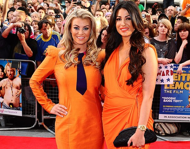 Cara Kilbey and Billi Mucklow arriving for the UK Premiere of Keith Lemon : The Film