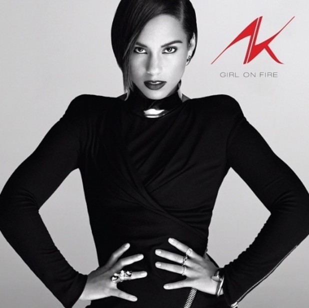 Alicia Keys &#39;Girl on Fire&#39; album artwork.