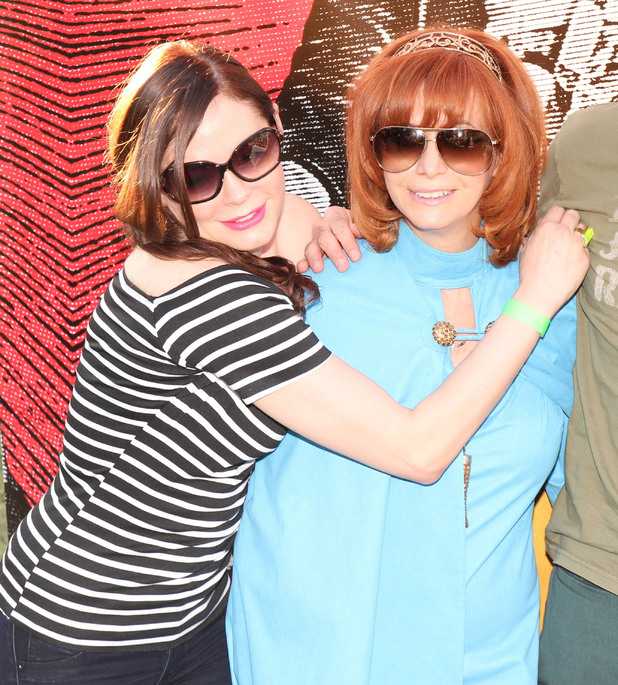 Rose McGowan and Linda Ramone 8th annual Johnny Ramone tribute at Hollywood forever cemetery