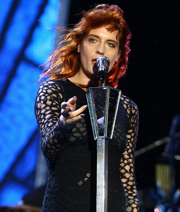 Florence Welch performs on day one of Reading Festival.