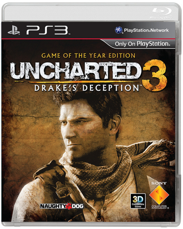 'Uncharted 3: Drake's Deception' Game of the Year edition box art
