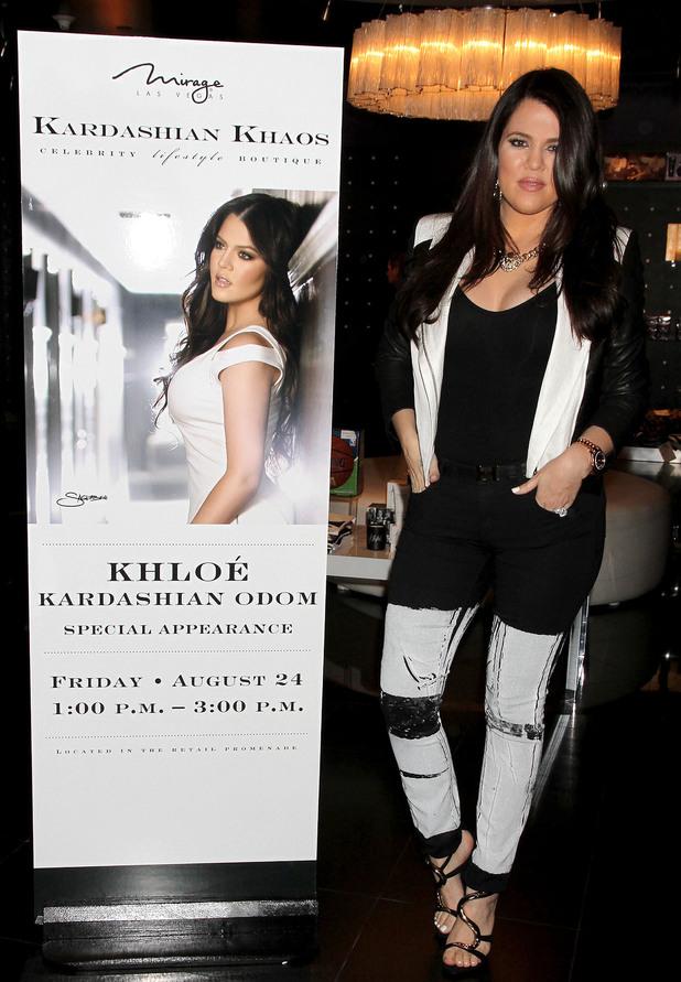 Khloe Kardashian promotes her fragrance 'Unbreakable' in Las Vegas.