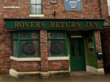 A general view of the Rovers Return Inn on the set of Coronation Street
