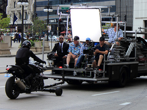 Aamir Khan on the set of 'Dhoom 3'