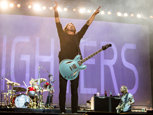 Dave Grohl from Foo Fighters at Reading Festival 2012.